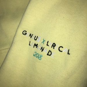 GENIU$ x LYRICAL LEMONADE HOODIE L - Light Yellow